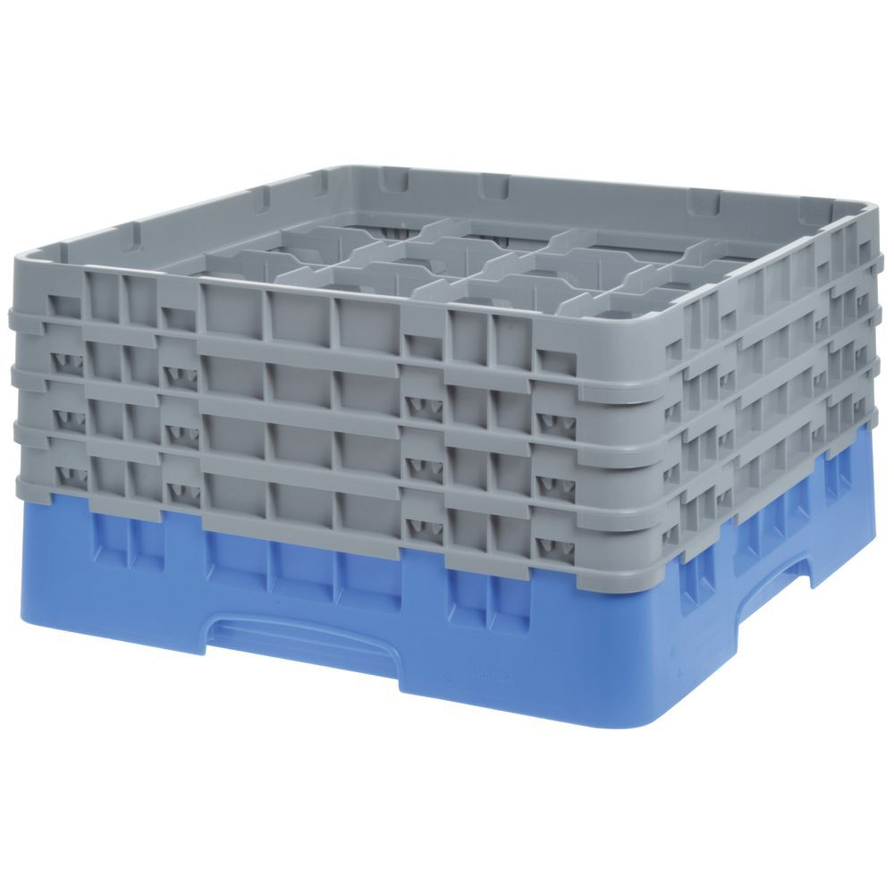 "Cambro Glass Rack Full Size Sixteen 4 3/8"" Compartments Maximum Glass Height8 1/2"""