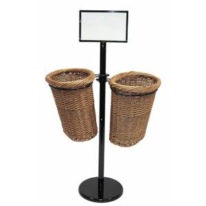 DISPLAY, 2-BASKET BAGUETTE W/7X11 SGNFRME