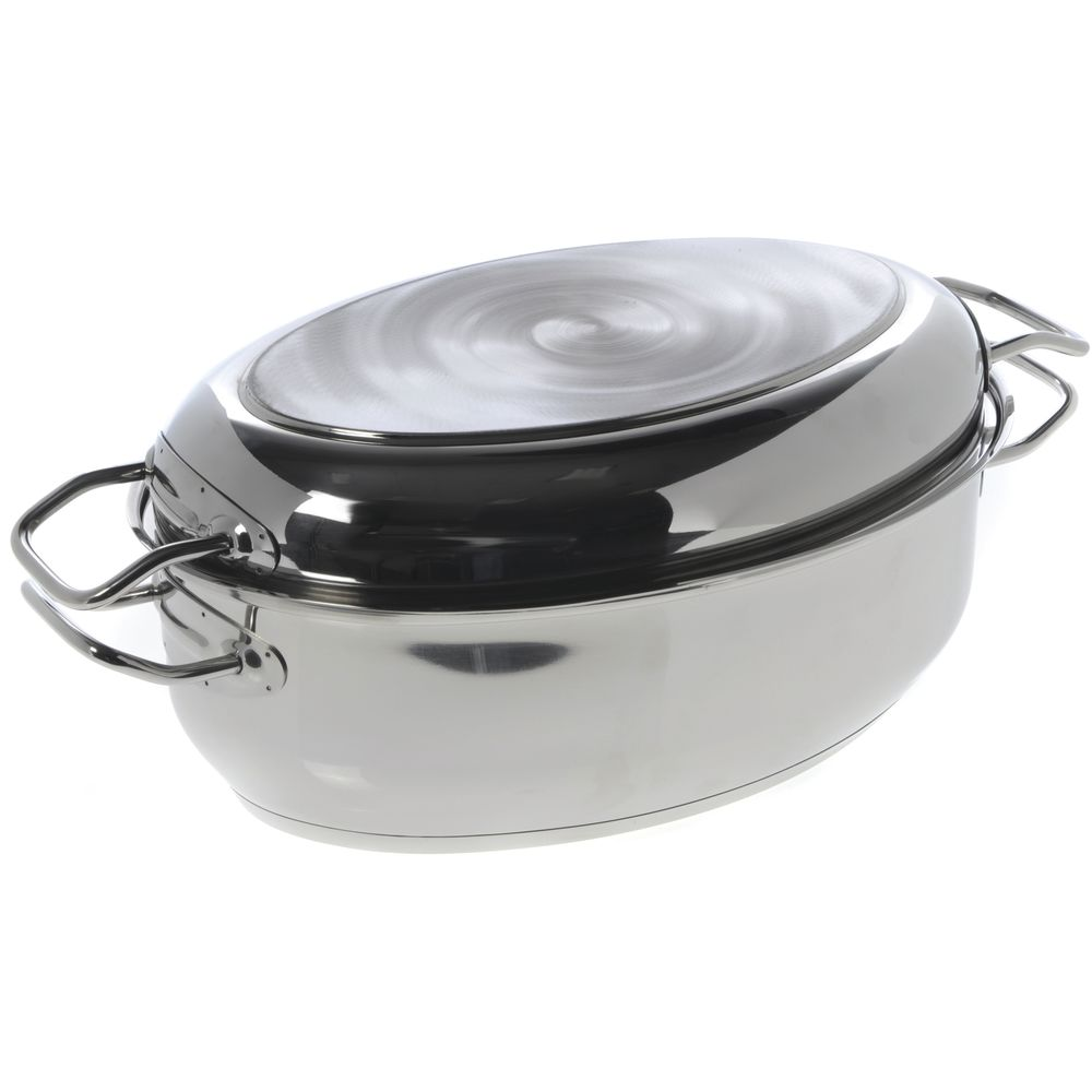 Norpo 8 Qt Oval Stainless Steel Roasting Pan