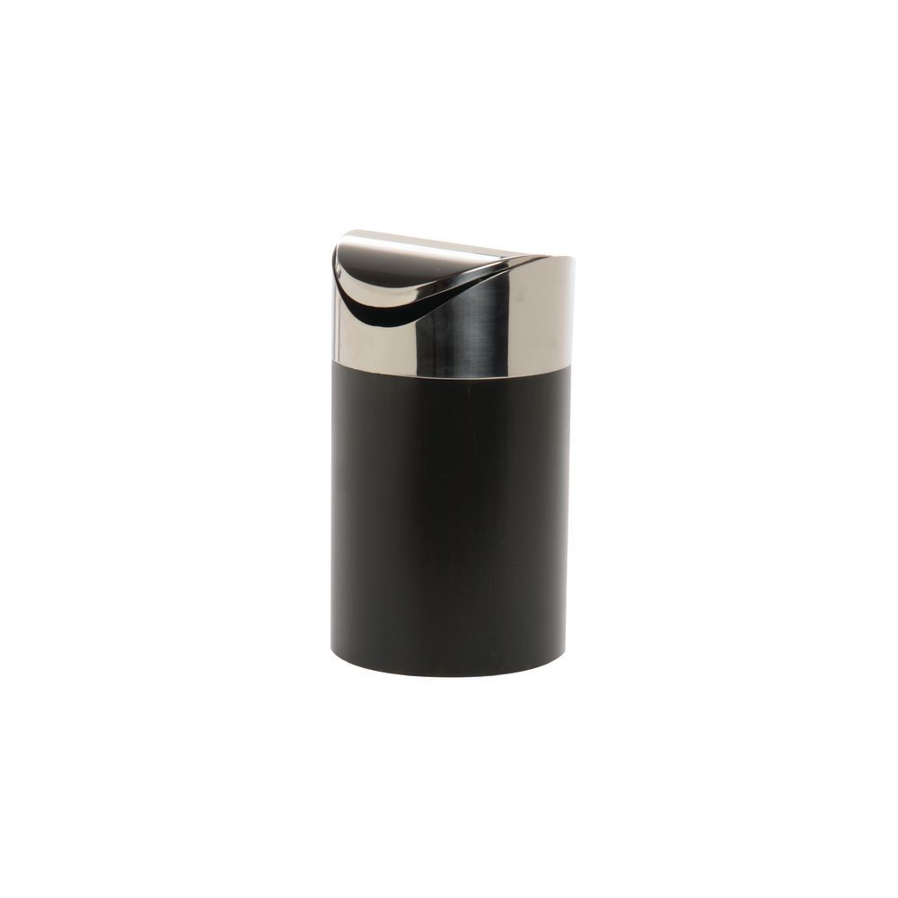 Cal Mil Black Bamboo With Stainless Steel Swing Top Countertop