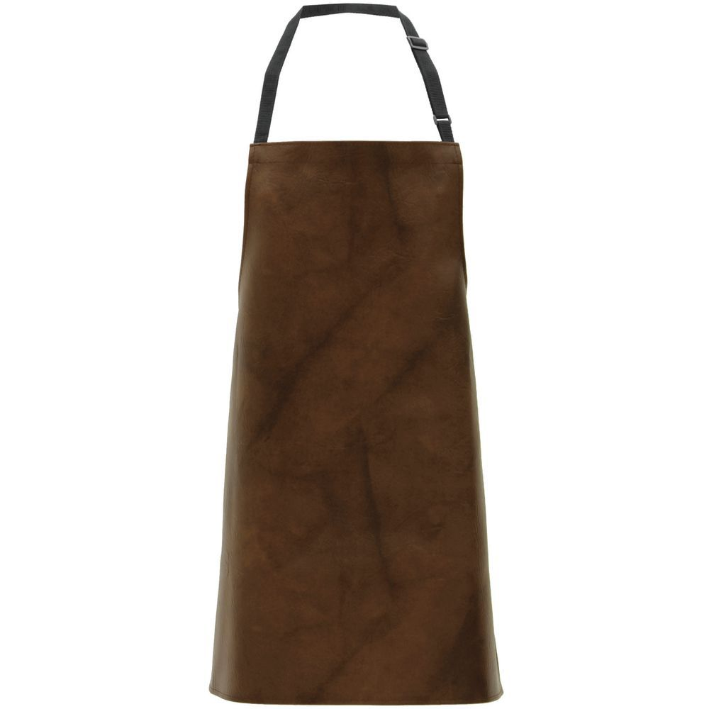 APRON, BROWN, LEATHER LOOK