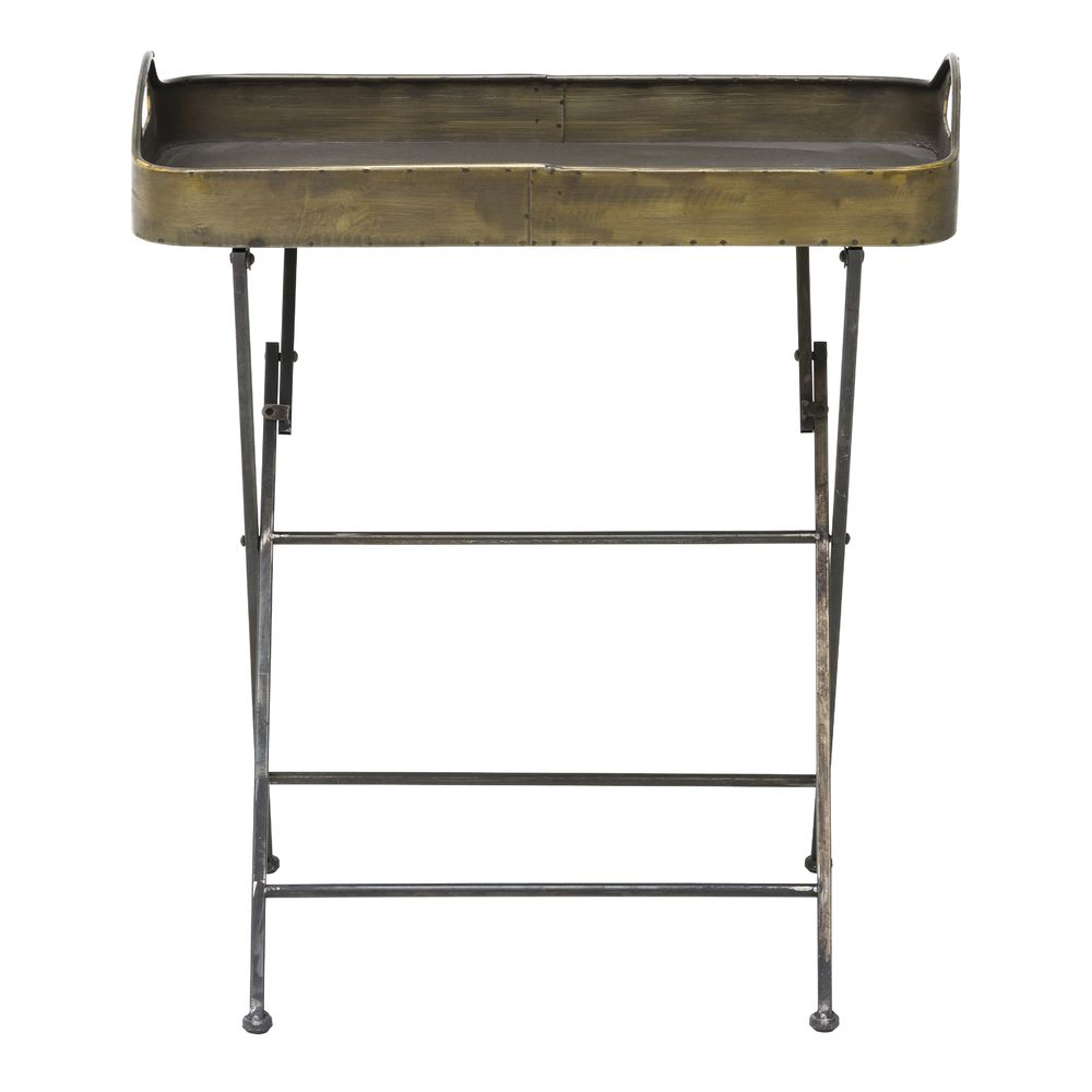 TRAY, RECT, W/FOLDING STAND, METAL