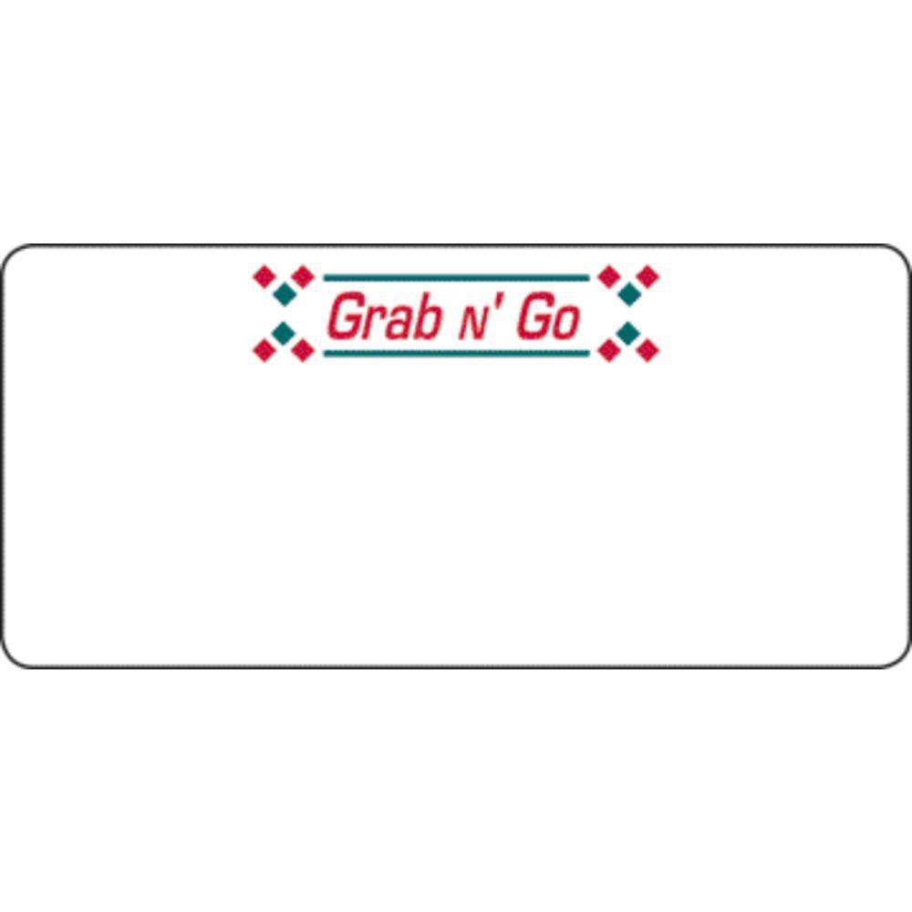 LBL, LASER, GRAB N GO (G/RED), 780 LABELS