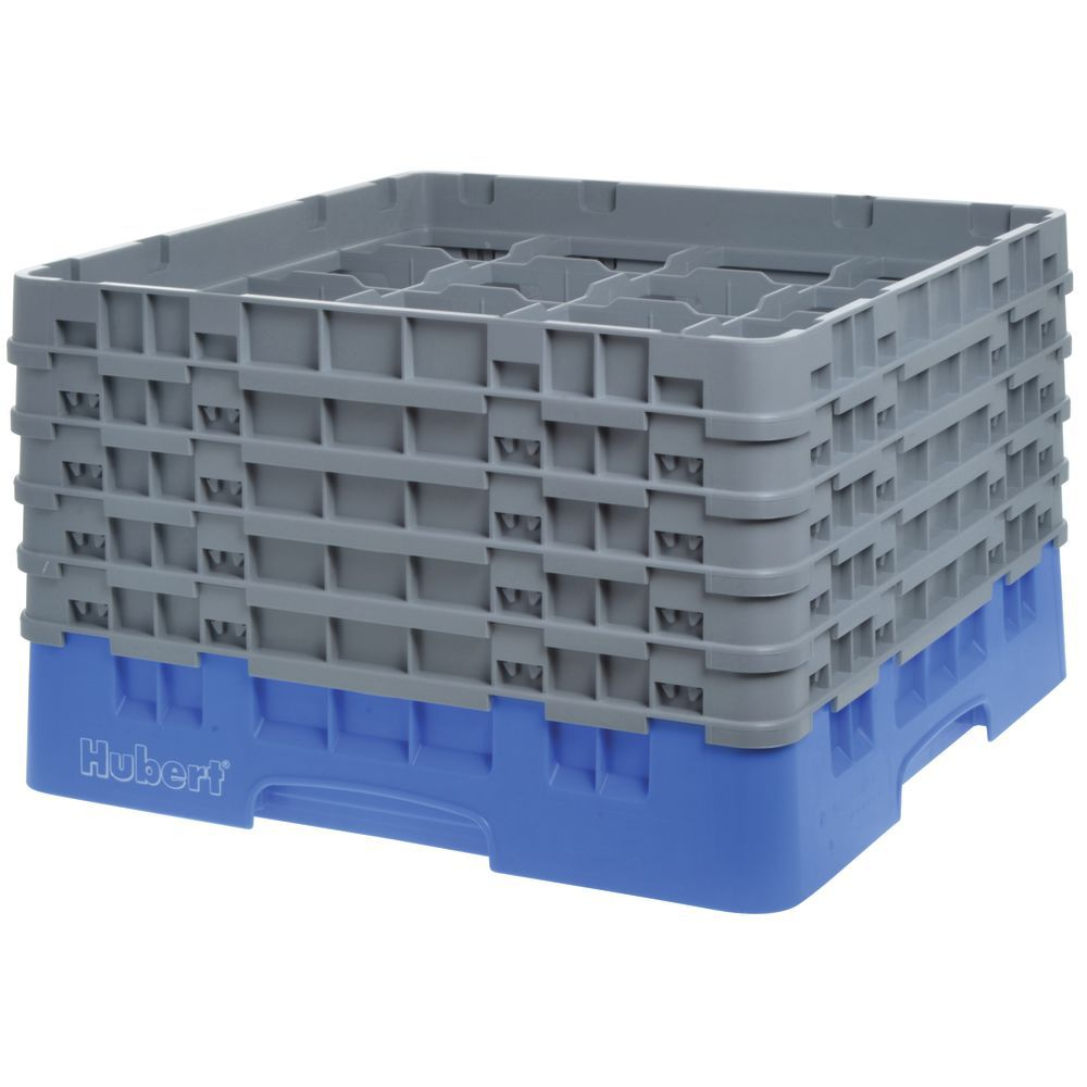 "Cambro Glass Rack Full Size Sixteen 4 3/8"" Compartments Maximum Glass Height 10 1/8"""