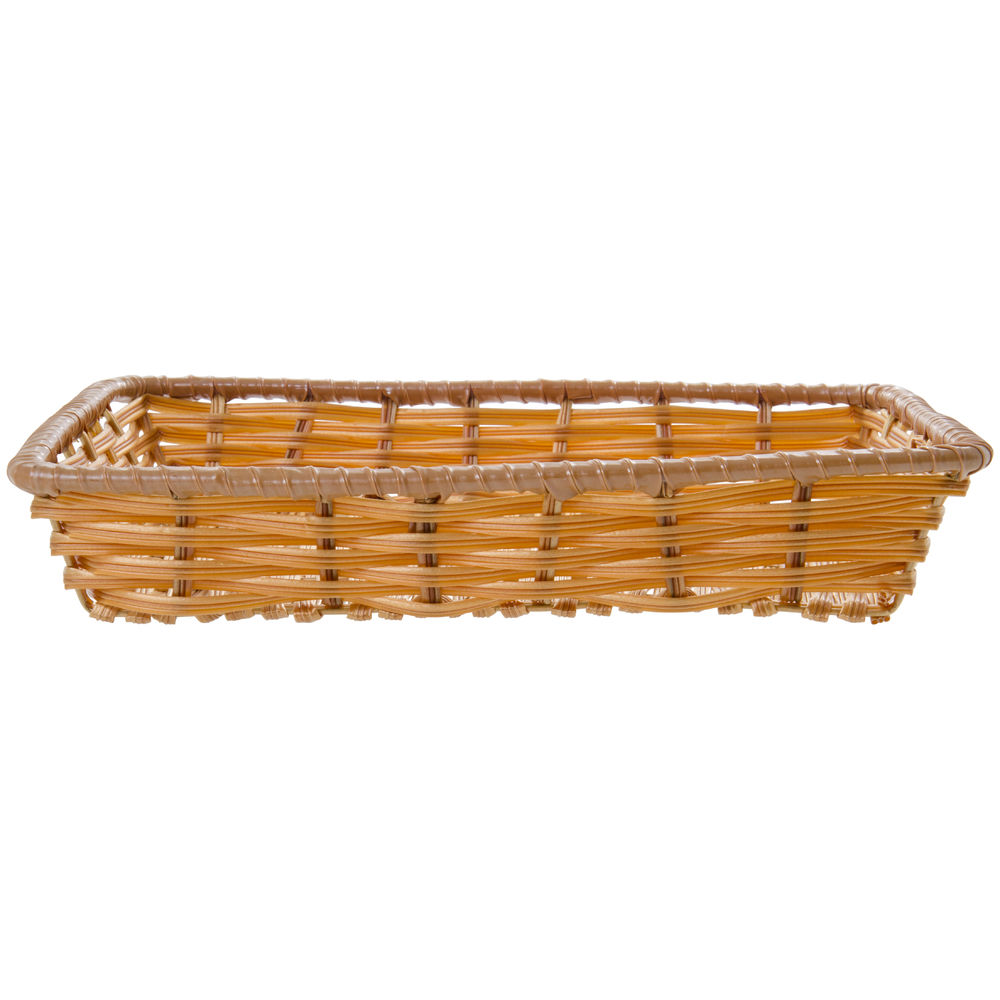"Expressly Hubert® Tri-Cord Washable Wicker Basket Natural 14""L x 12""W x 2 1/2""D"