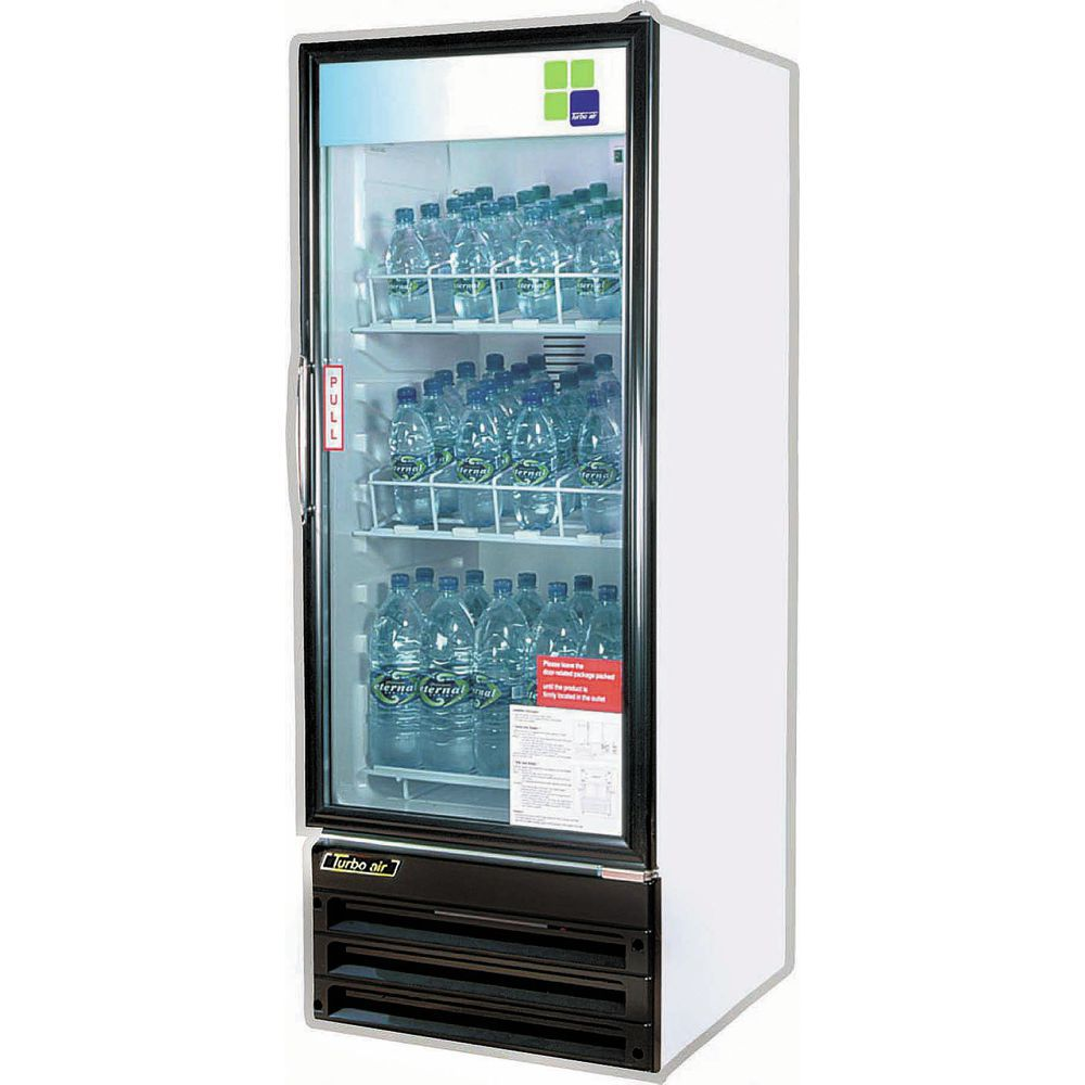 MERCHANDISER, 10 CU FT REFRIG GLASS DOOR