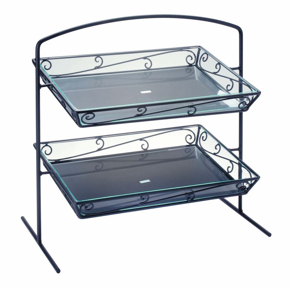 DISPLAY, BLK.WIRE, 2-TIER, W/LINERS, SANTE F
