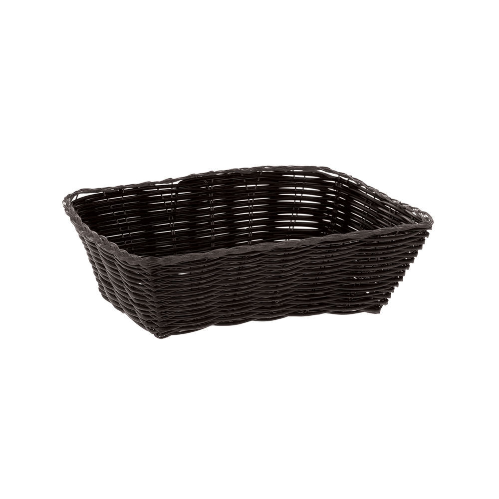 "BASKET, BREAD, RECT, 7""L, BLACK"