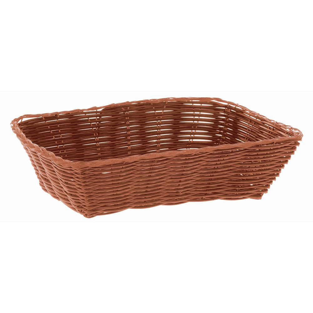 "BASKET, BREAD, RECT, 9-3/4""L, BROWN"