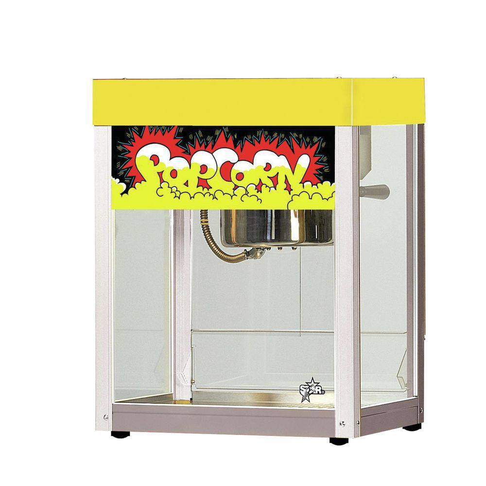 MACHINE, POPCORN, 6 OZ, YELLOW TOP