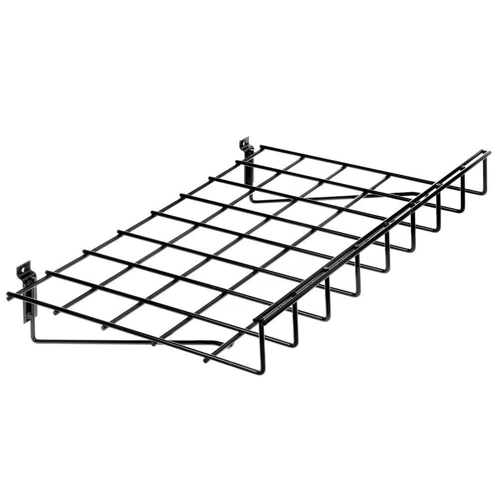 Small Slatwall Wire Shelf with Lip