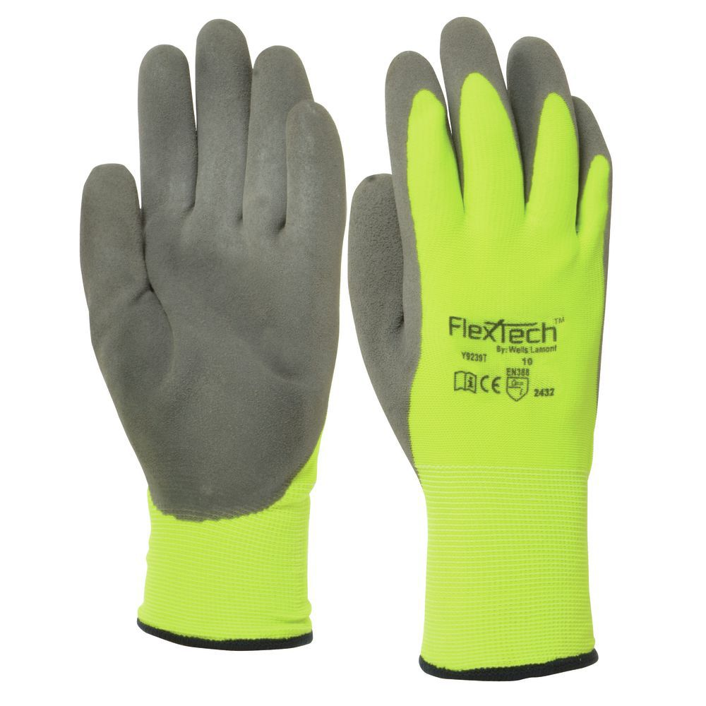 GLOVE, THERMAL, NITRILE PALM DIP, MEDIUM