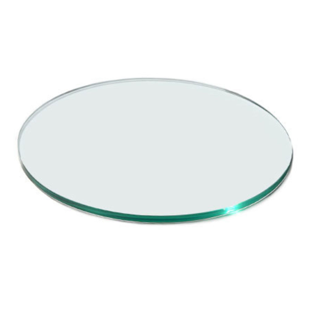TEMPERED GLASS, ROUND, CLEAR, 14DIA