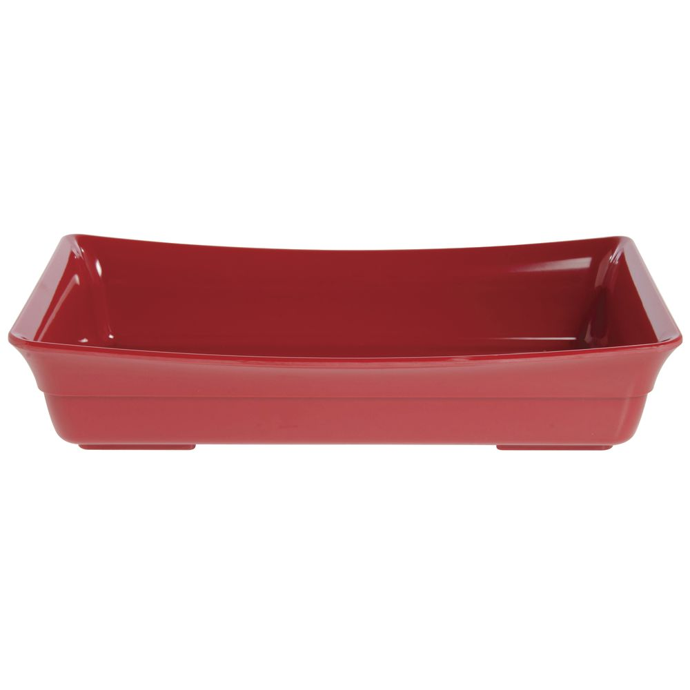 PAN, CURVWARE, FULL SIZE, MELAMINE, RED