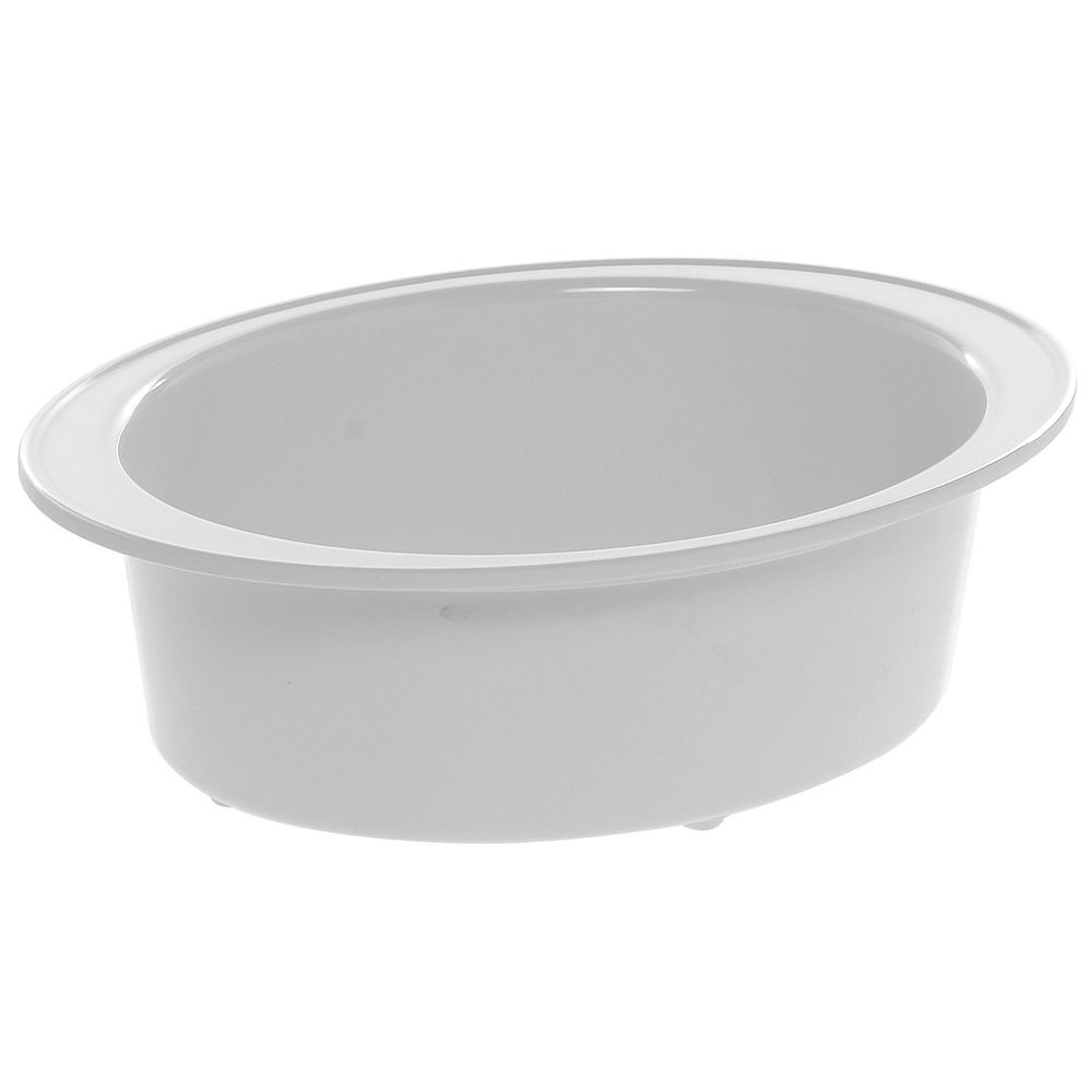 "Oval Baker with Rim for Tile with 2 Oval Cutouts in White Melamine 9""L x 12""W x 4""H"