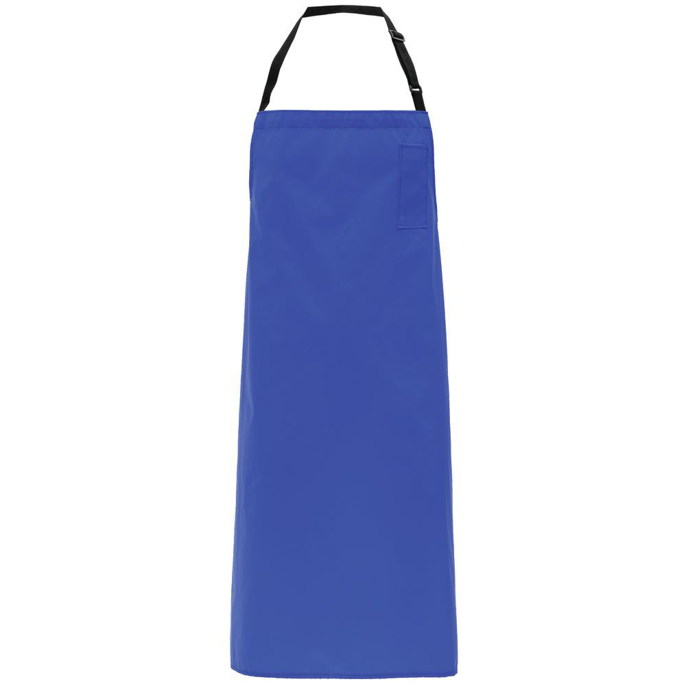 APRON, SUPPORTED VINYL, W/PKT, ROYAL BLUE