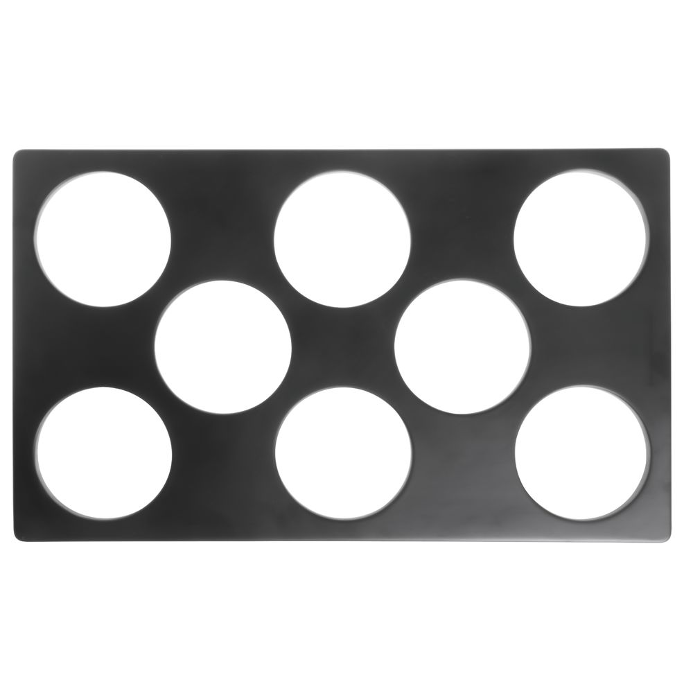 TILE, 8-HOLE, MELAMINE, BLACK