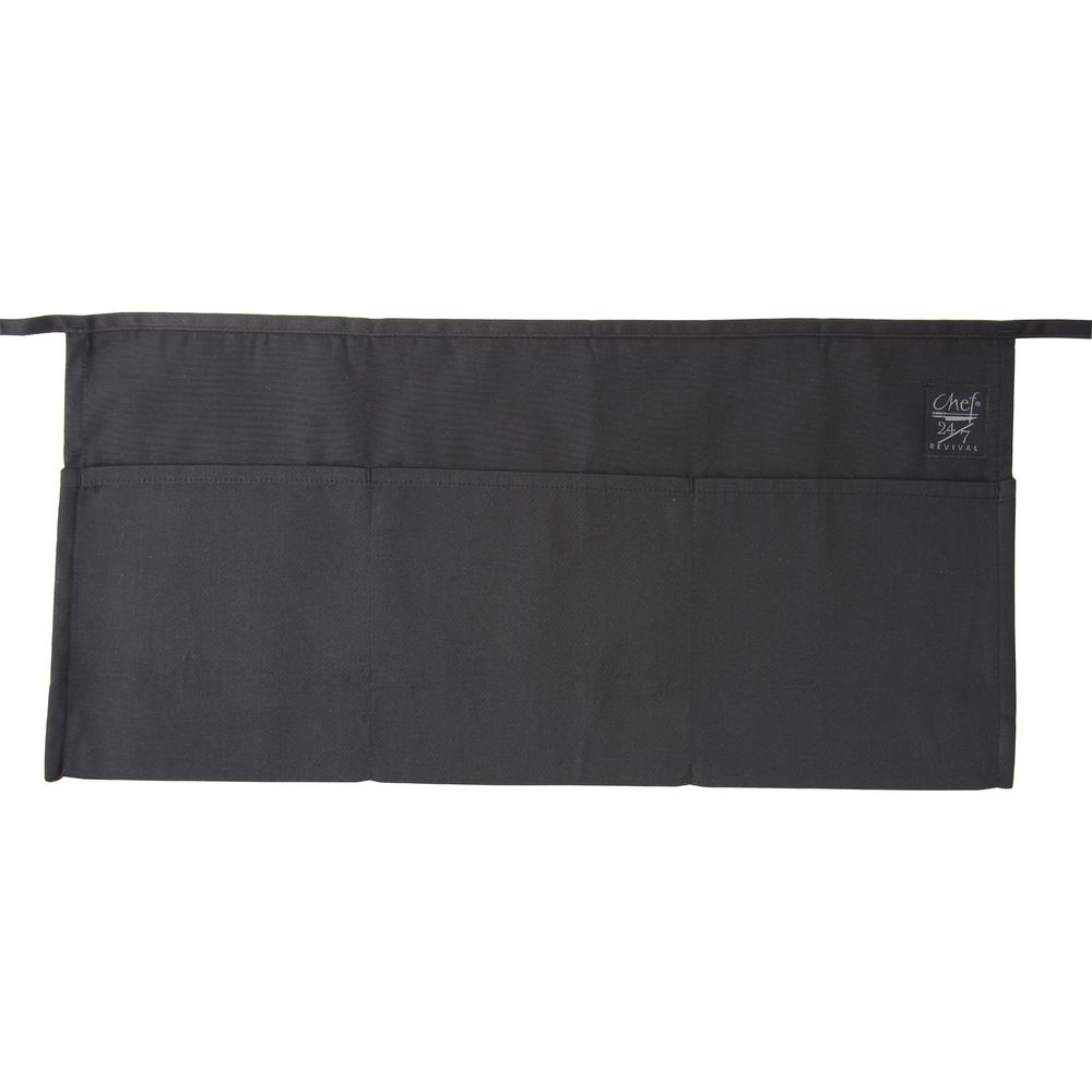 APRON, WAIST, 3 POCKET, BLACK