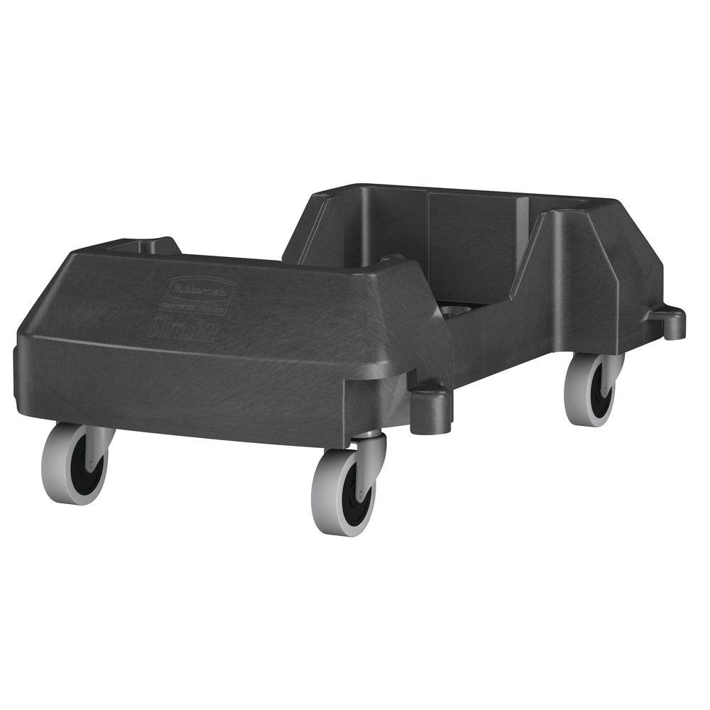 Rubbermaid 174 Black Plastic Trolley For Slim Jim 174 Trash