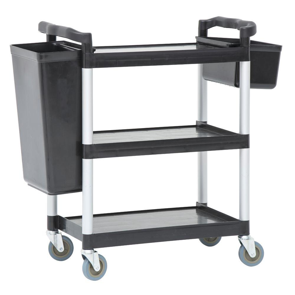 HUBERT® 3 Shelf Utility Cart Small