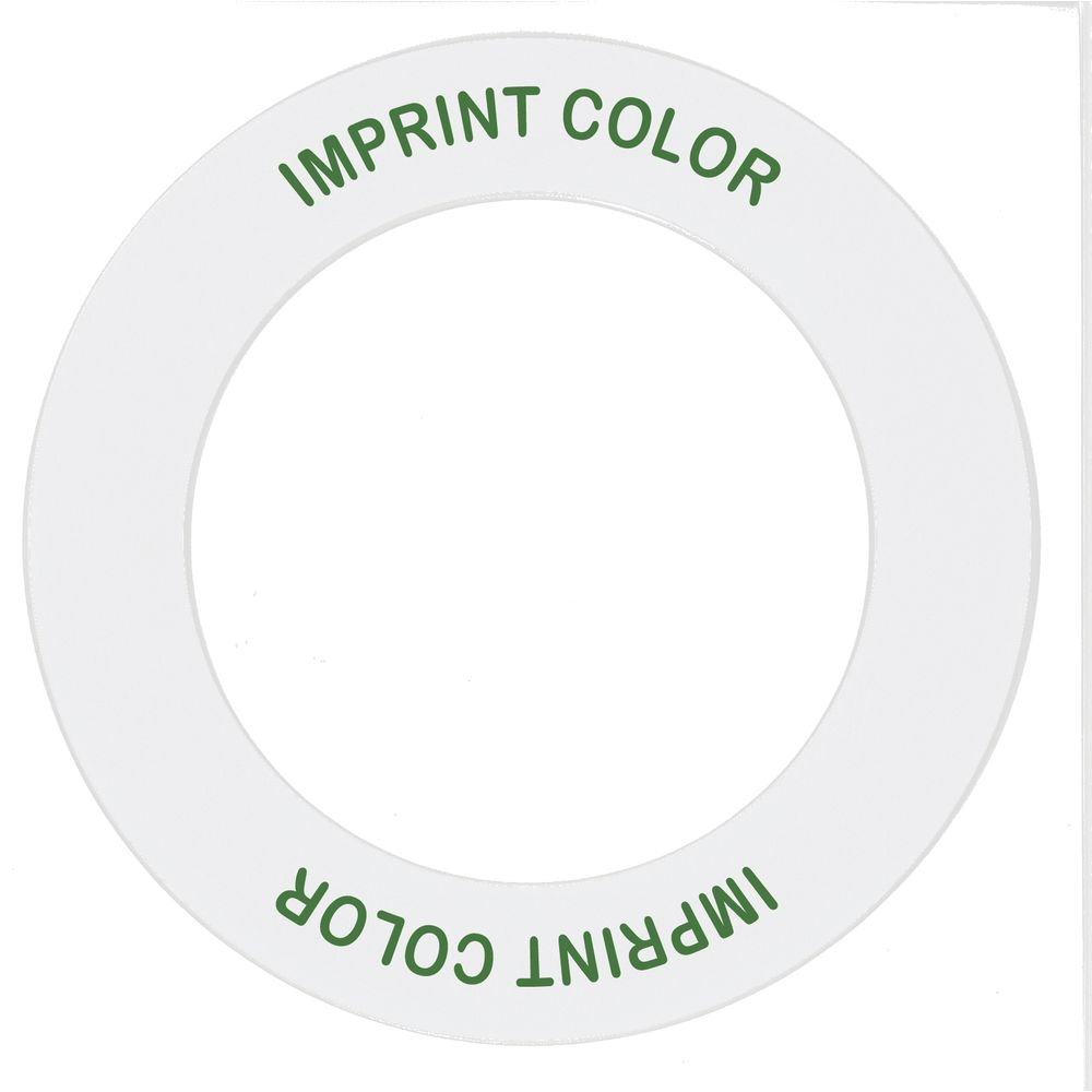 """Store 'N Pour ID Ring White/Green Plastic Overall Dia 5 1/2"""" Inside Dia 3 1/2"""""""