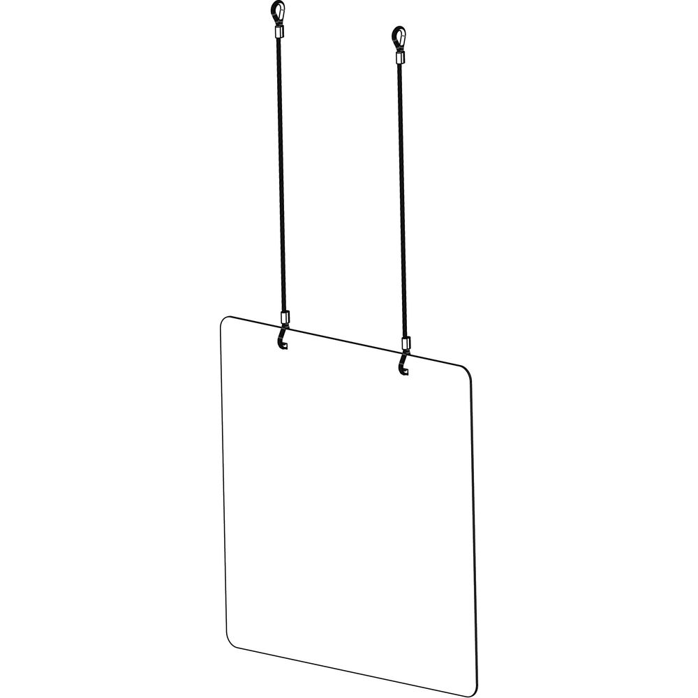 Cal-Mil Clear Acrylic Hanging Safety Shield