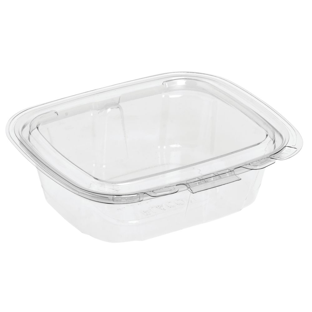 Crystal Seal 8 oz Clear Plastic Tamper-Evident Container