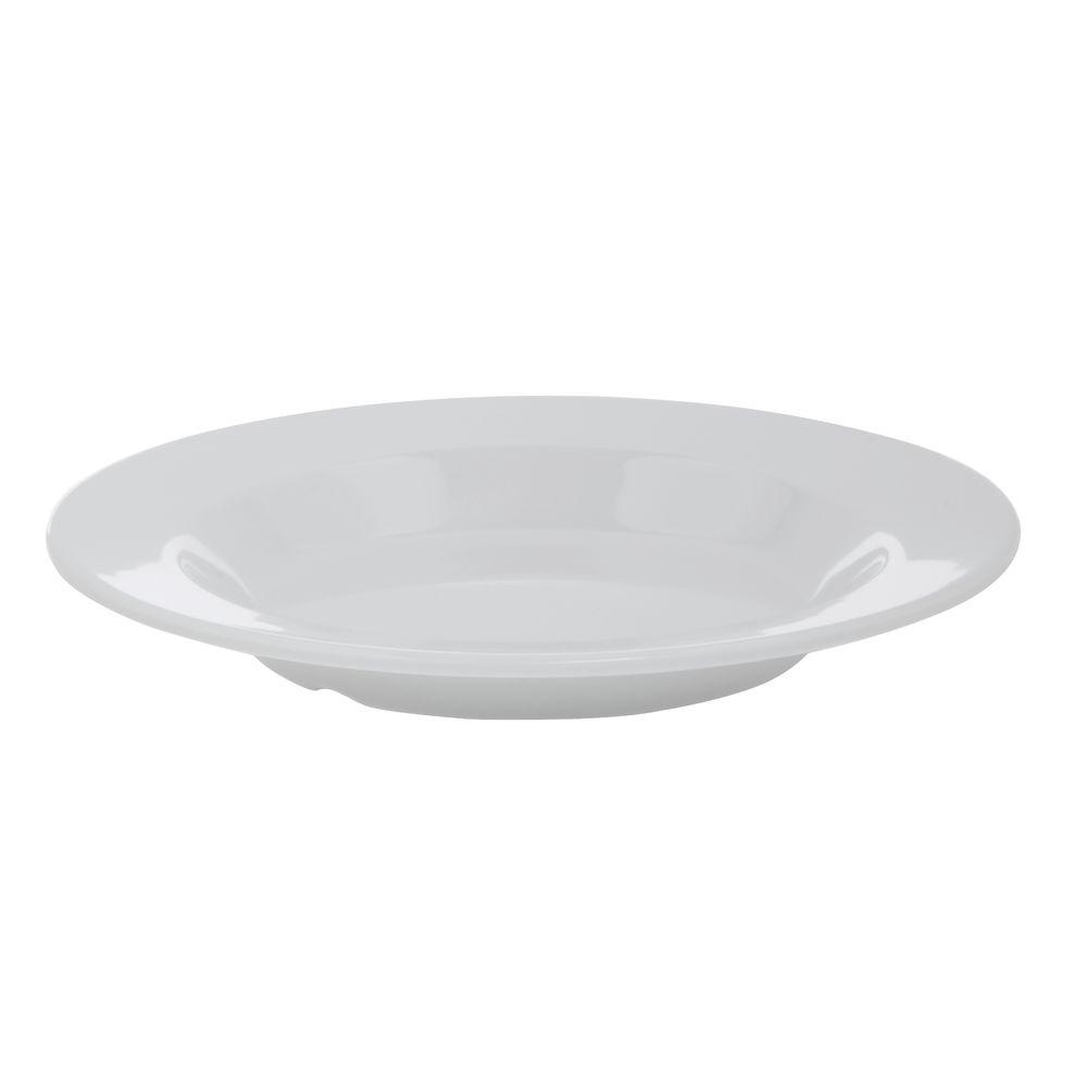 Hubert® Wide Rim Melamine Bowl 13 Oz White