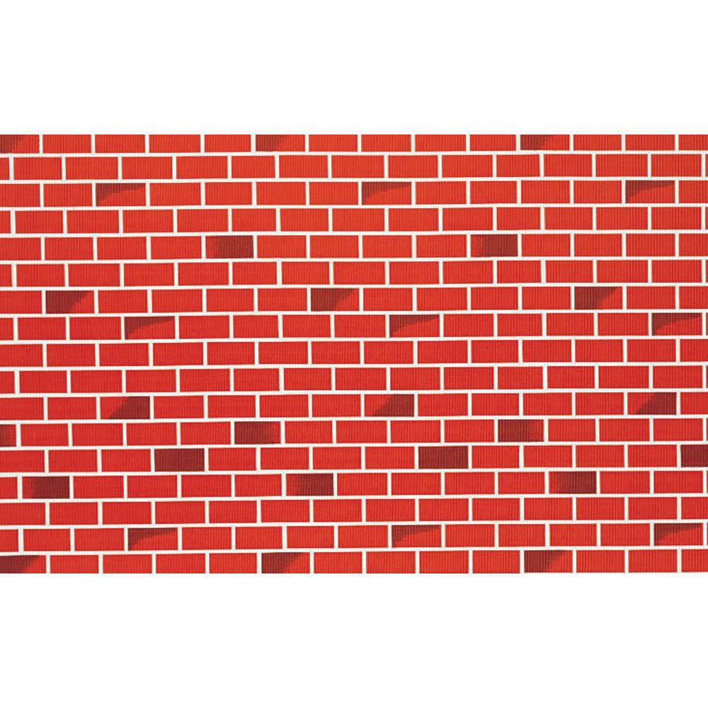 "Corobuff Valance Tu Tone Brick Red 45'L x 8 1/2""W Corrugated Paper"