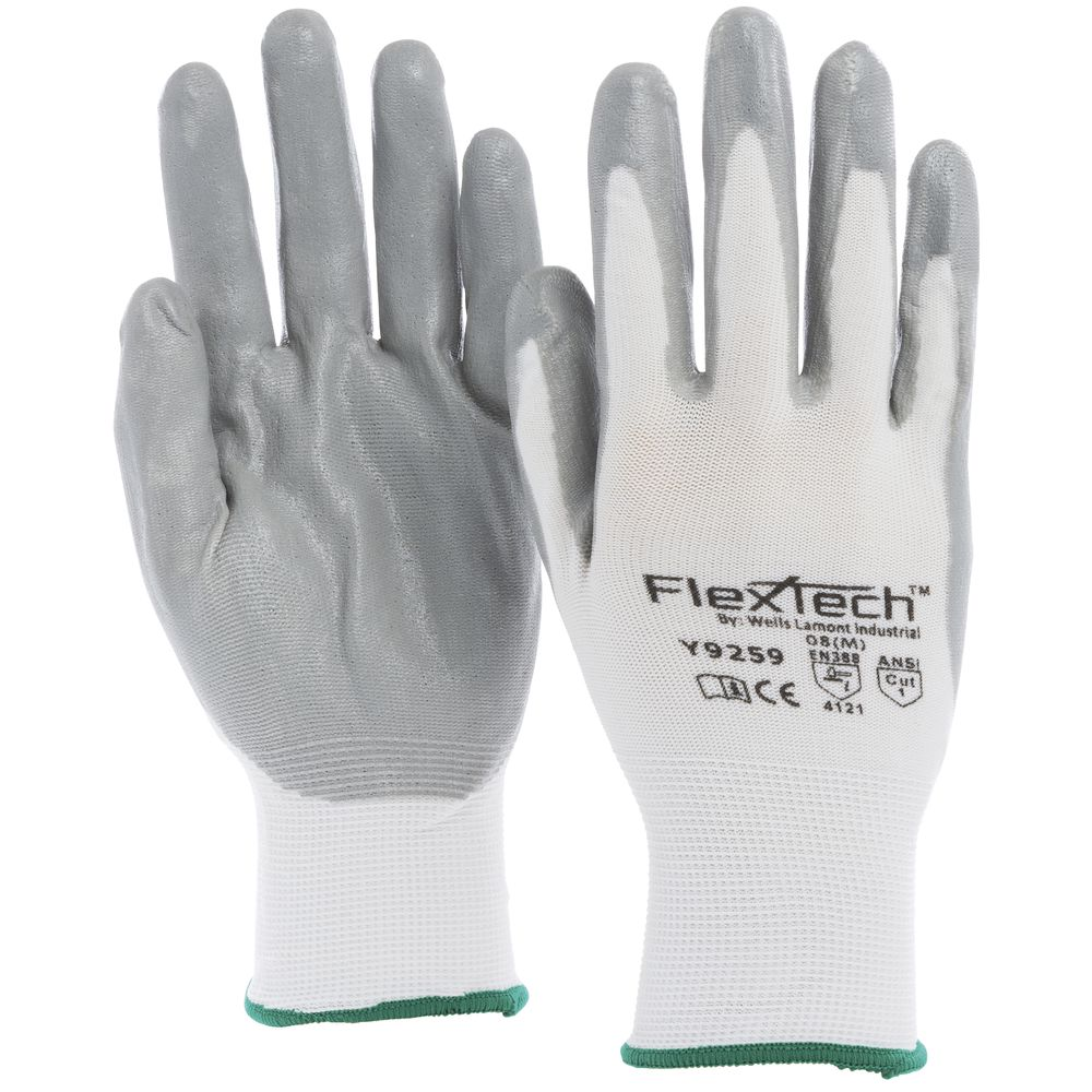 GLOVE, FLEXTECH, MED, NITRILE PALM COATED