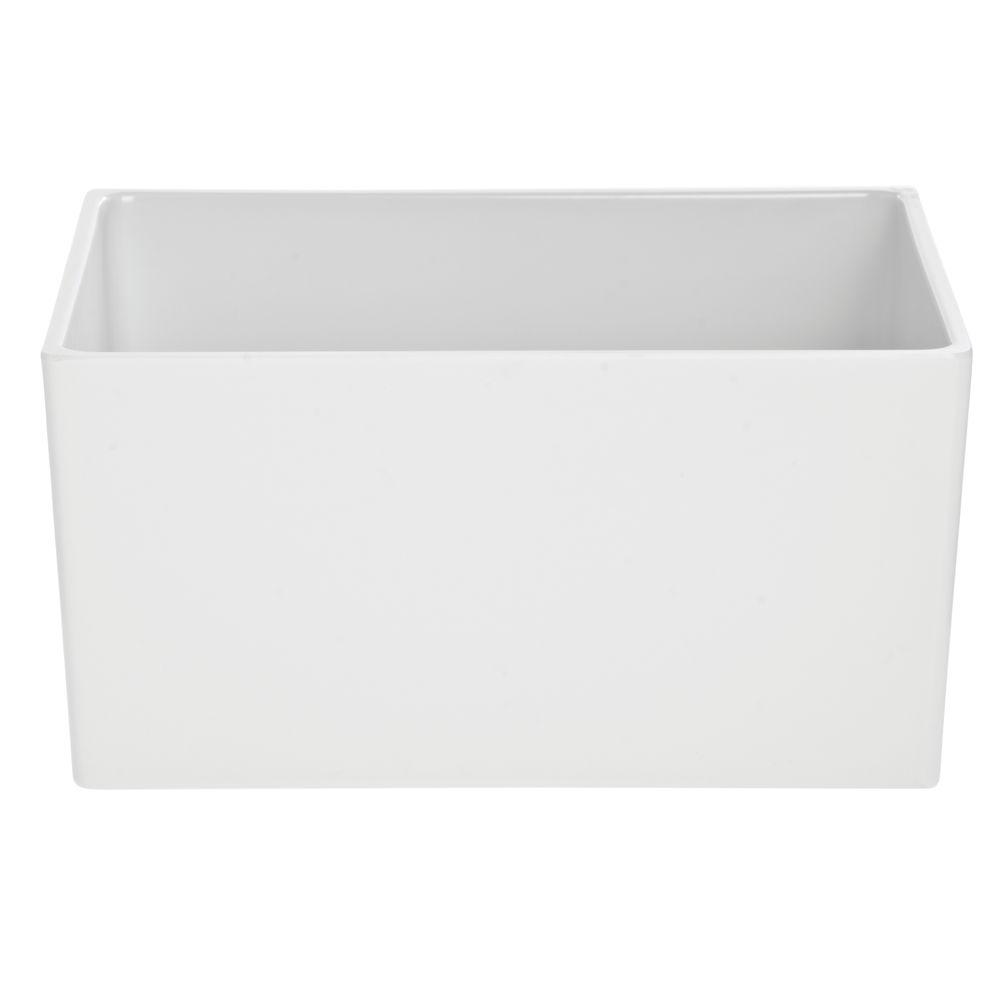 "Melamine Half Size Rectangular Pan White 12""L x 10""W x 6""D"