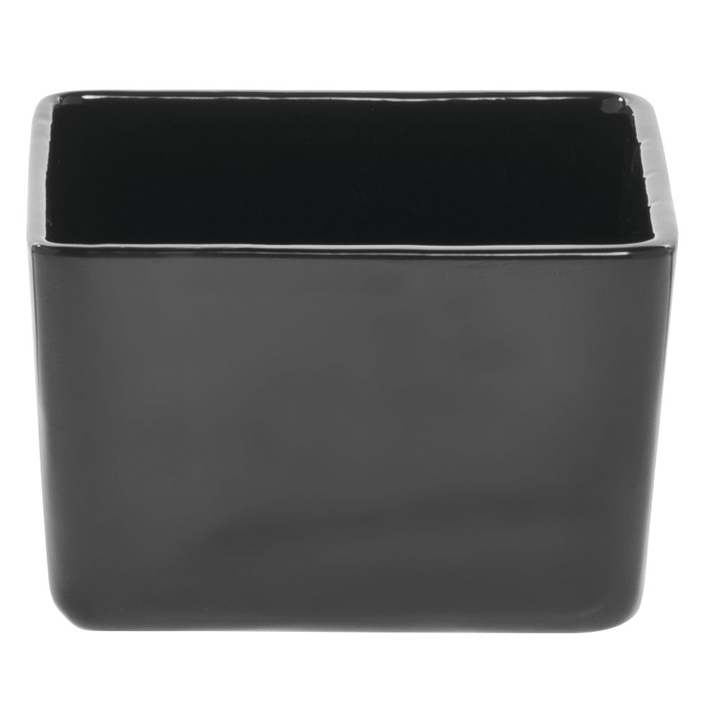 "Tablecraft® Square Bowl Black 4 3/4"" Sq x 3""H"