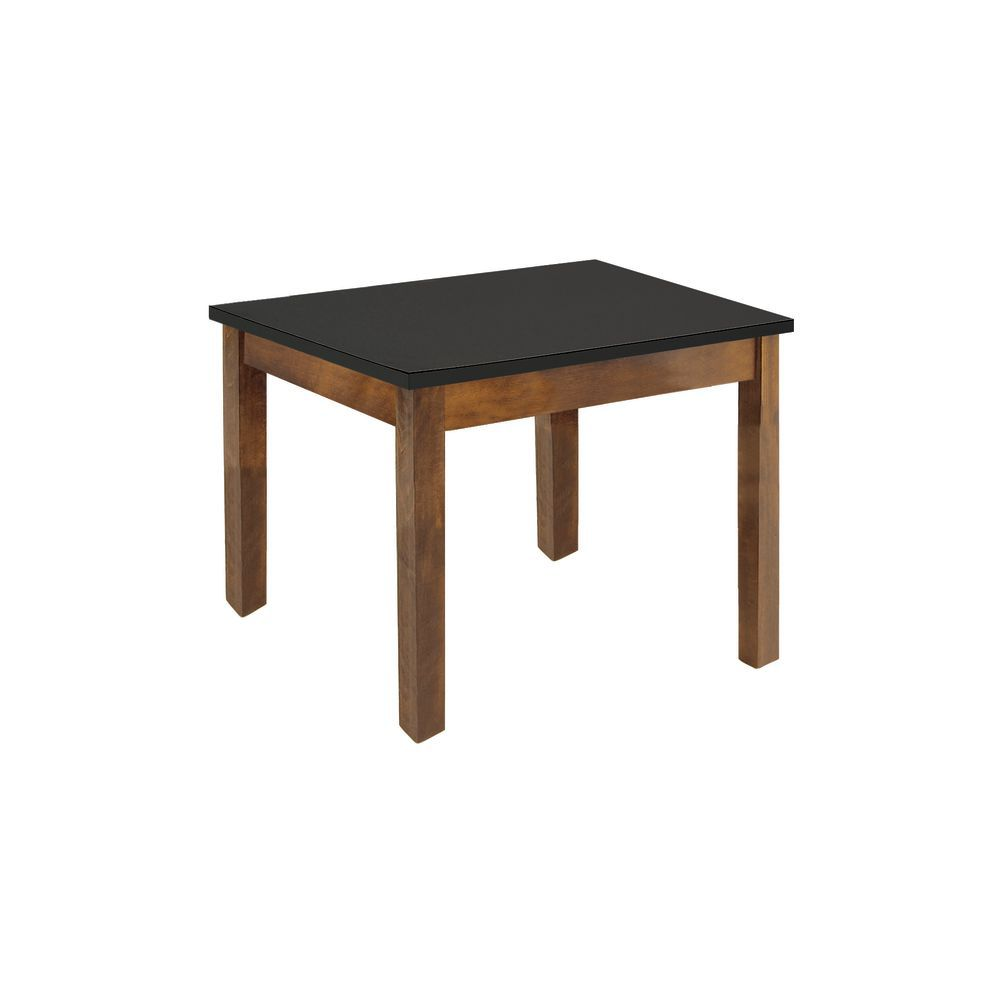 Expressly HUBERT® Oak Wood Frame with Black Top Nesting Table - 24\