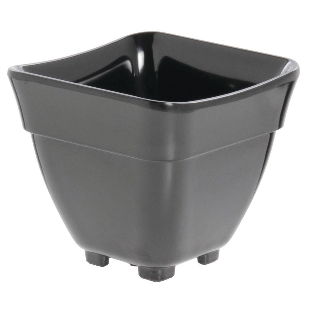 Expressly Hubert® Buffet Pans Black Melamine Sixth Size