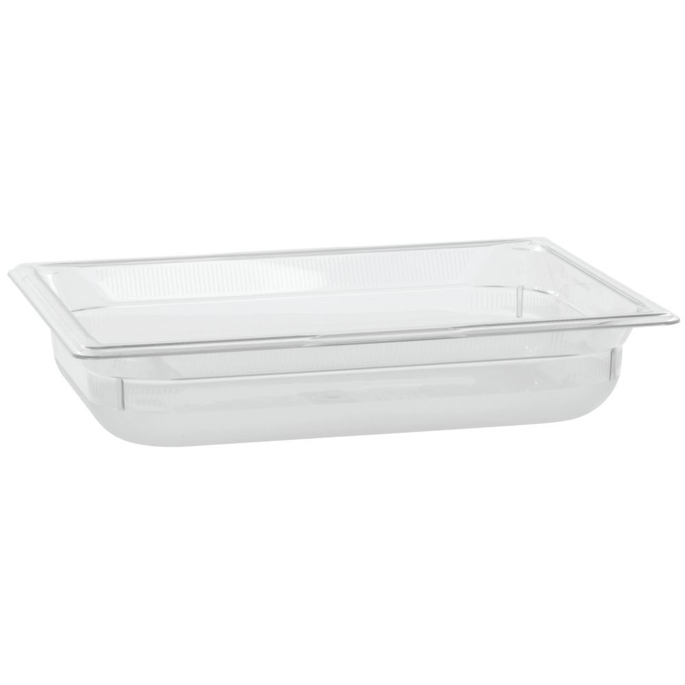 "Vollrath Super Pan Plastic Steam Table Pan Low Temp Clear 1/2 Size 2 1/2""D"