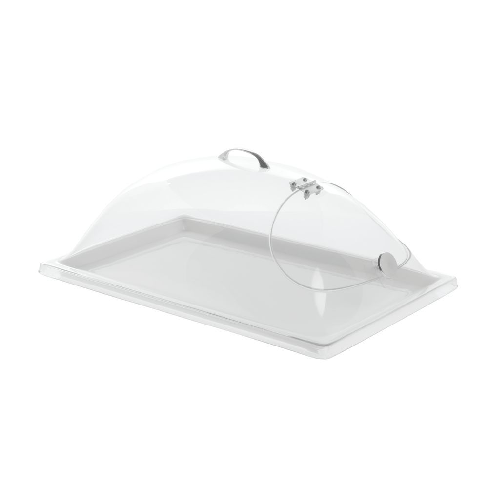 Hinged Serving Tray Lid Allows Easy Opening