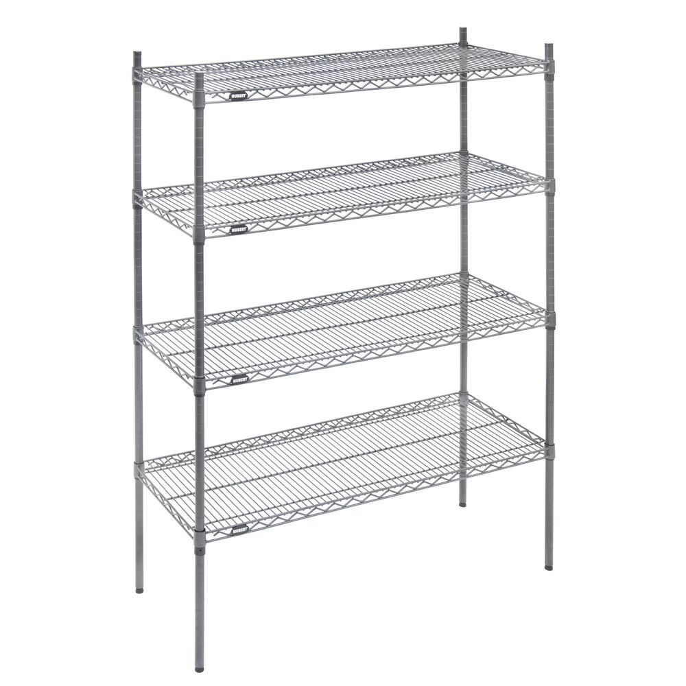 "SHELF UNIT, 4-SHELF, 18X48""-63""H, FLINT"