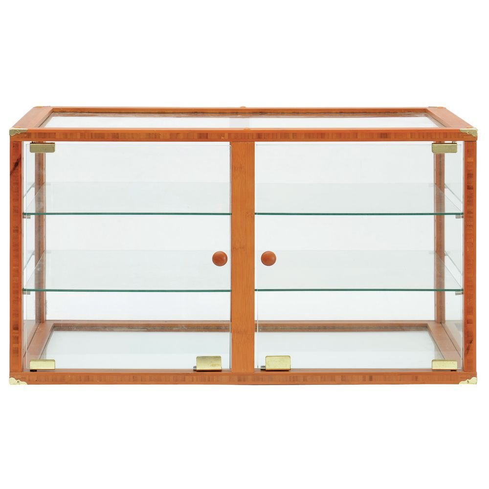 Expressly HUBERT® Double Door Oak Bakery Display Case - 29