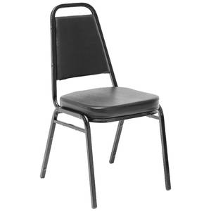 CHAIR, STACK, SQUARE BACK, STANDARD SIZE