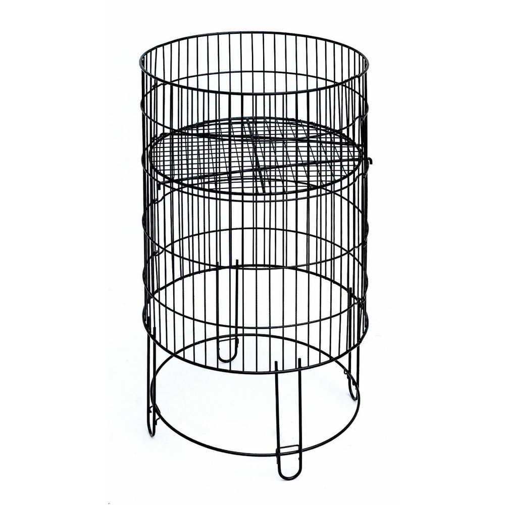 Round Black Wire Collapsible Dump Bin - 18\
