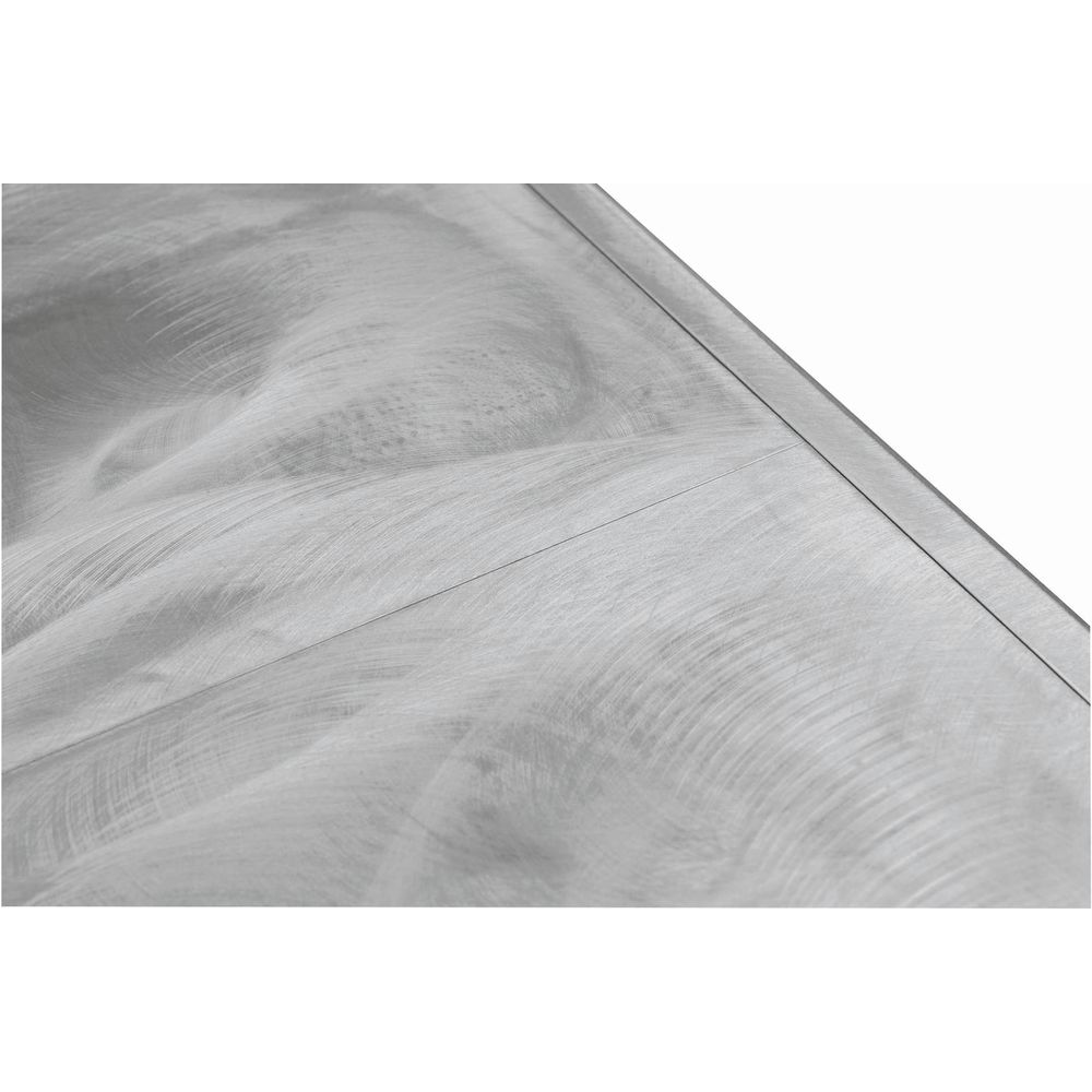 """Aluminum Table Silver Swirl Buffet Table with Clear-Coat 72""""L x 30""""W x 29""""H"""