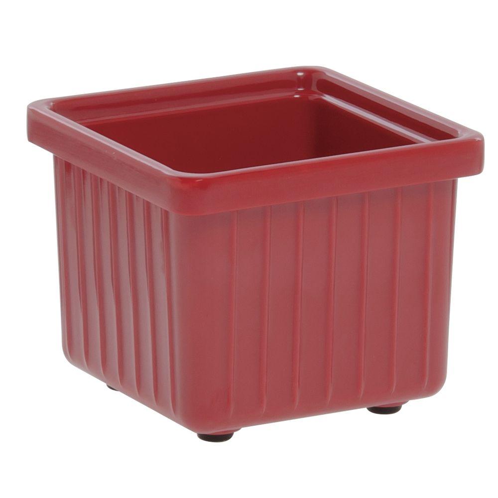 BOWL, SQ SAVER, 4.5 X 4.5 X 4, RED