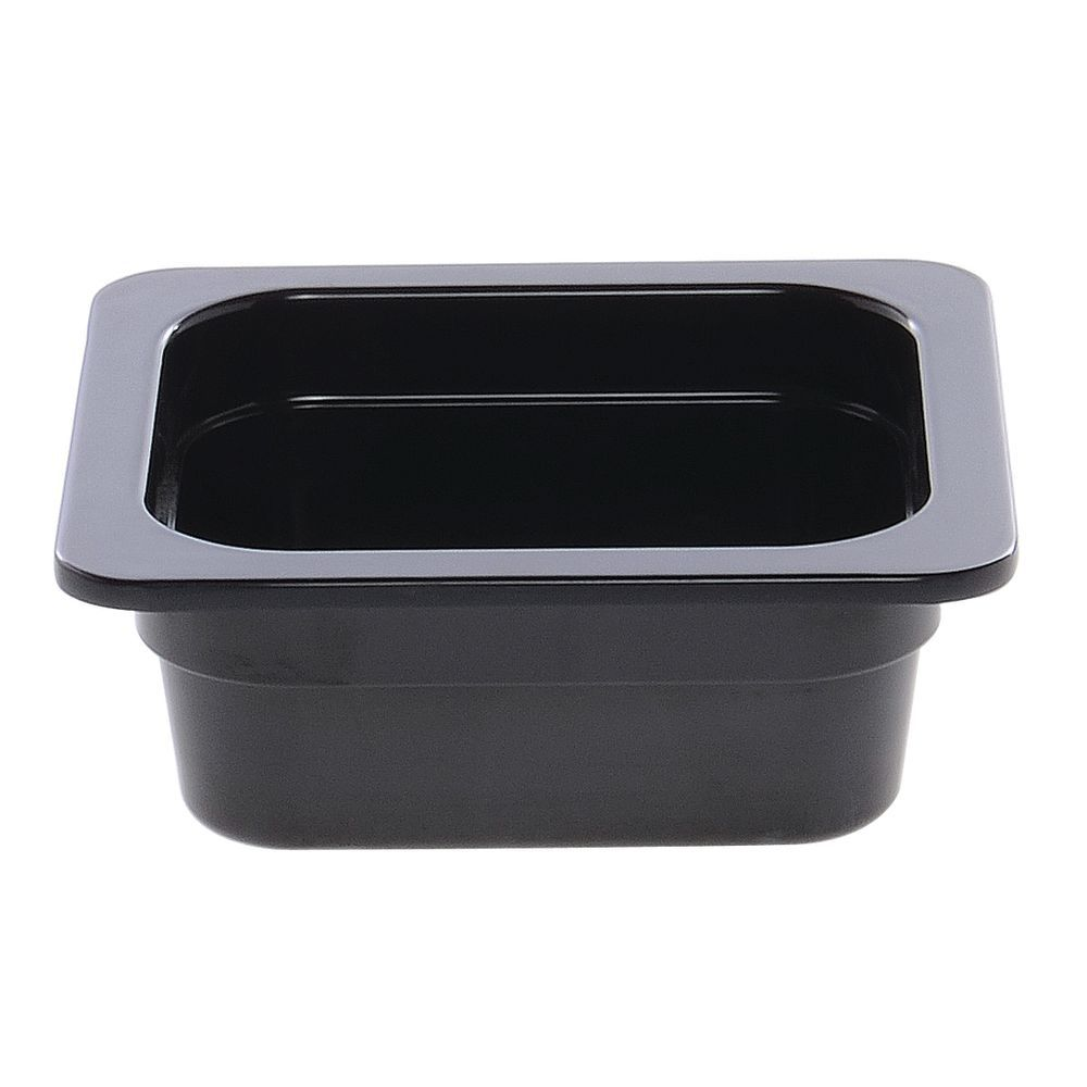 "Cold Food Pan in Black Melamine Sixth Size 6 15/16""L x 6 3/8""W x 2""H"