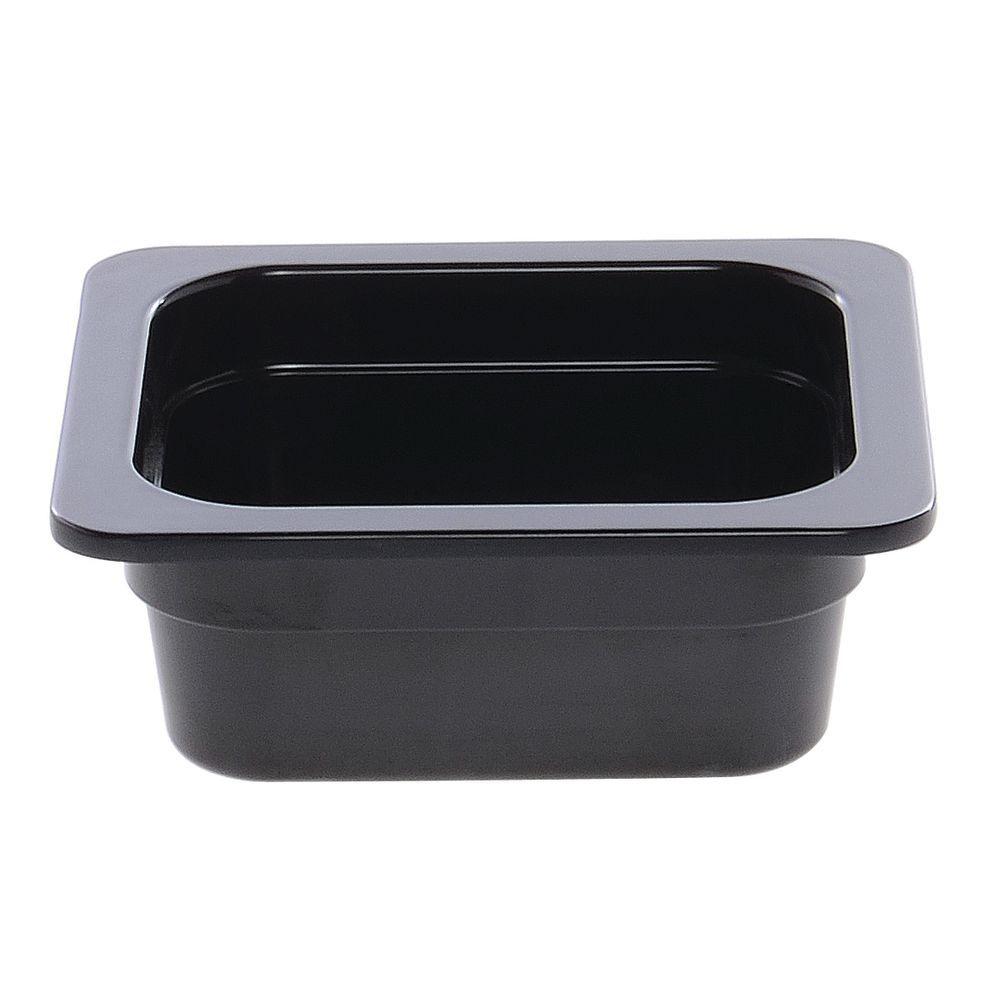 "Cold Food Pan in Black Melamine Sixth Size 6 15/16""L x 6 3/8""W x 2""H"