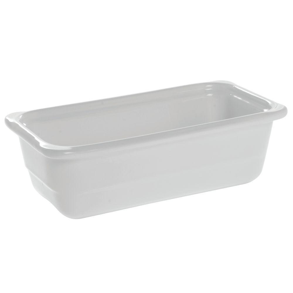 "Emile Henry Ceradon Ceramic Cookware 2 3/4 qt Third Size in White  12 1/4""L  x 6 3/4""W x 4""H"