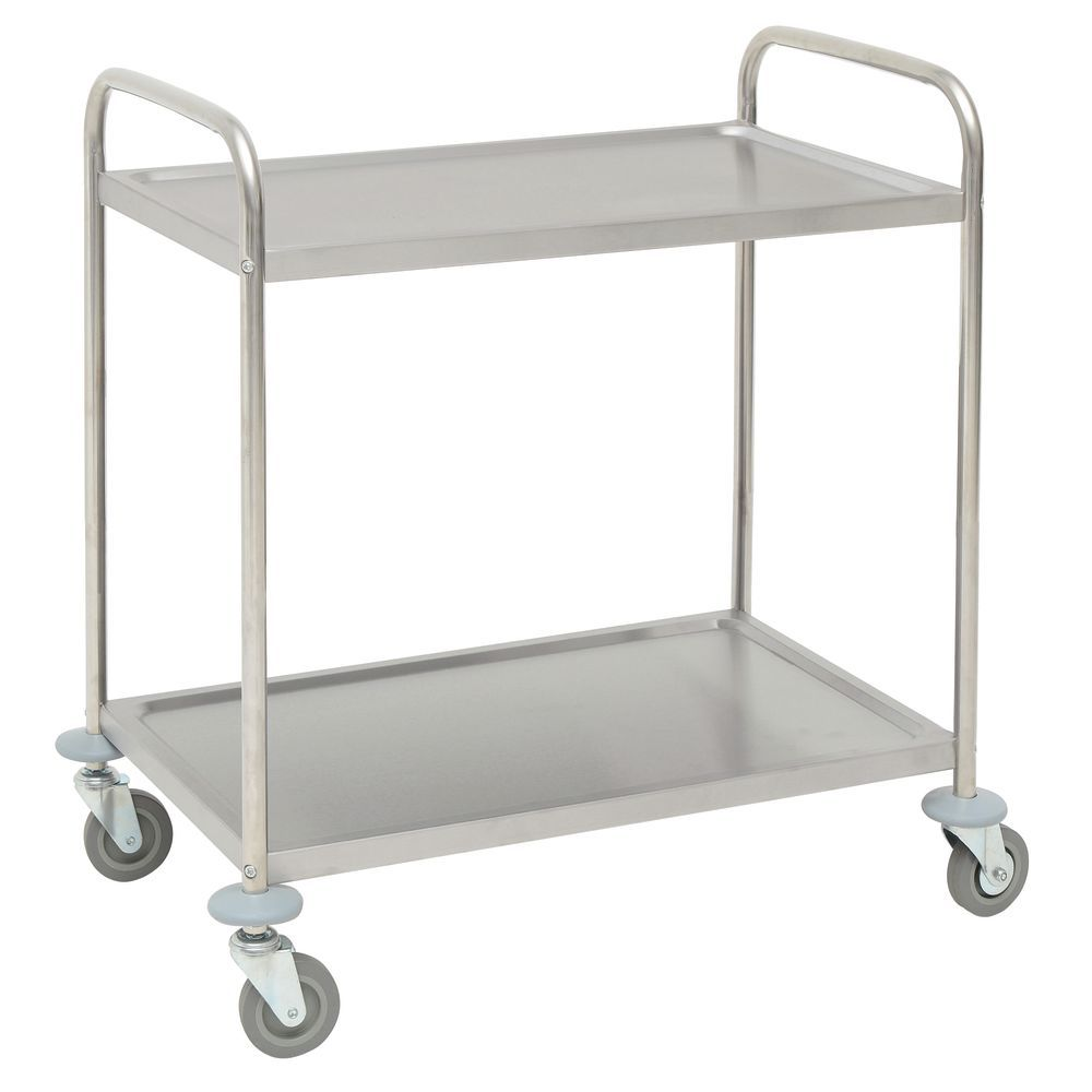 Stainless Transport Cart with 2 Shelves