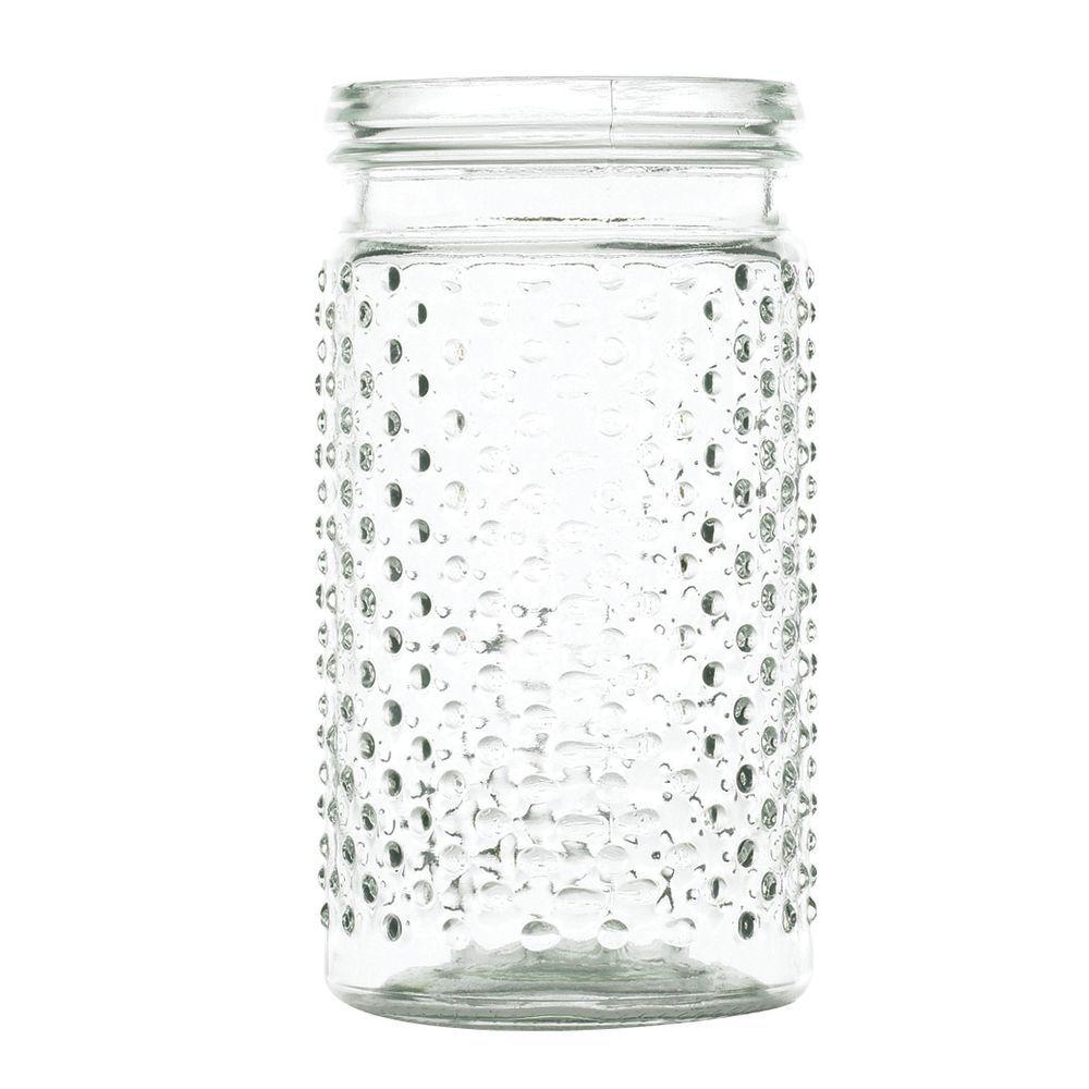 JAR, HOBNAIL, CLEAR, 4X5-3/4