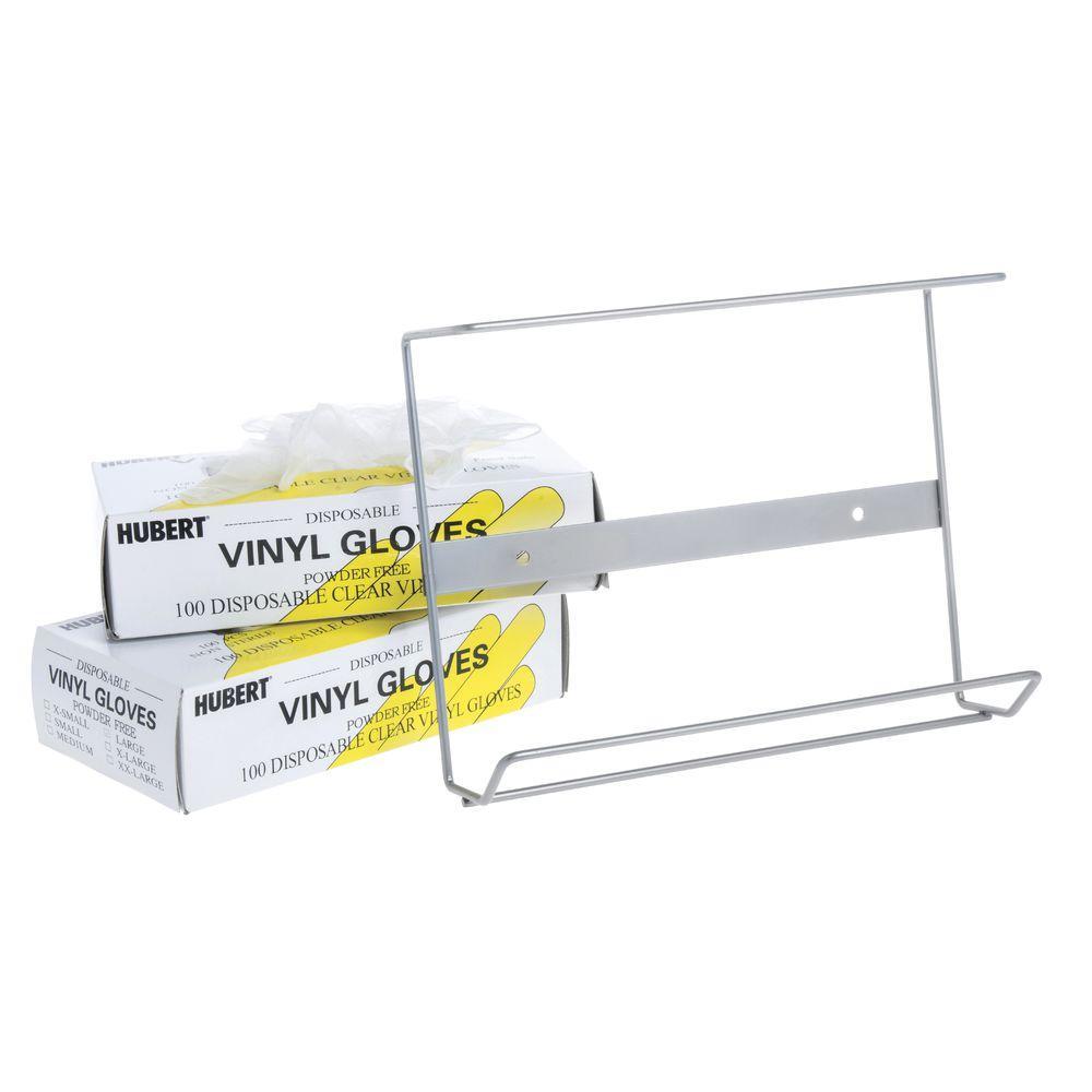 16 3//4L x 3 3//8W x 8 5//8H Hubert Disposable Glove Dispenser Silver Wire 3-Box