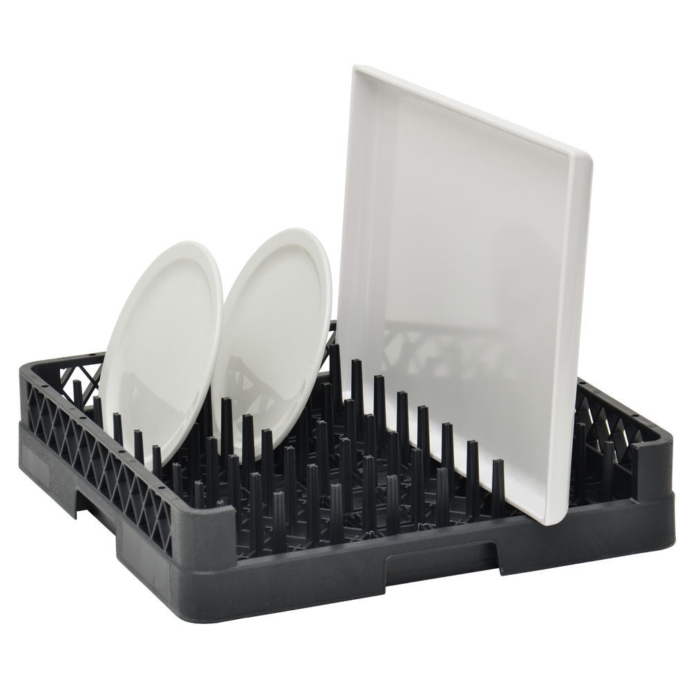 RACK, OPEN-END, PLATE + TRAY, BLACK
