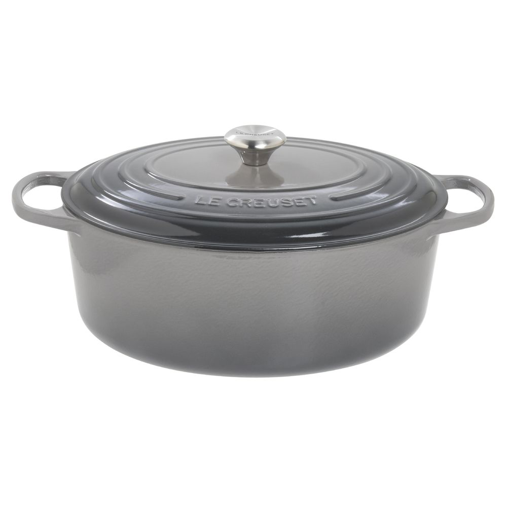 Le Creuset 9 12 qt Oval Oyster Grey Enameled Cast Iron Signature